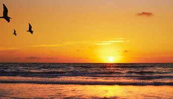 Header-zonsondergang